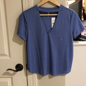 Women me to we short sleeve top size small blue